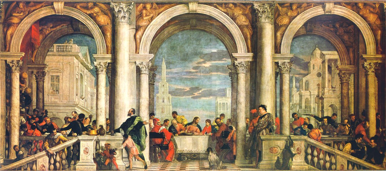 1573 - Paolo Veronese - Christ in the House of Levi