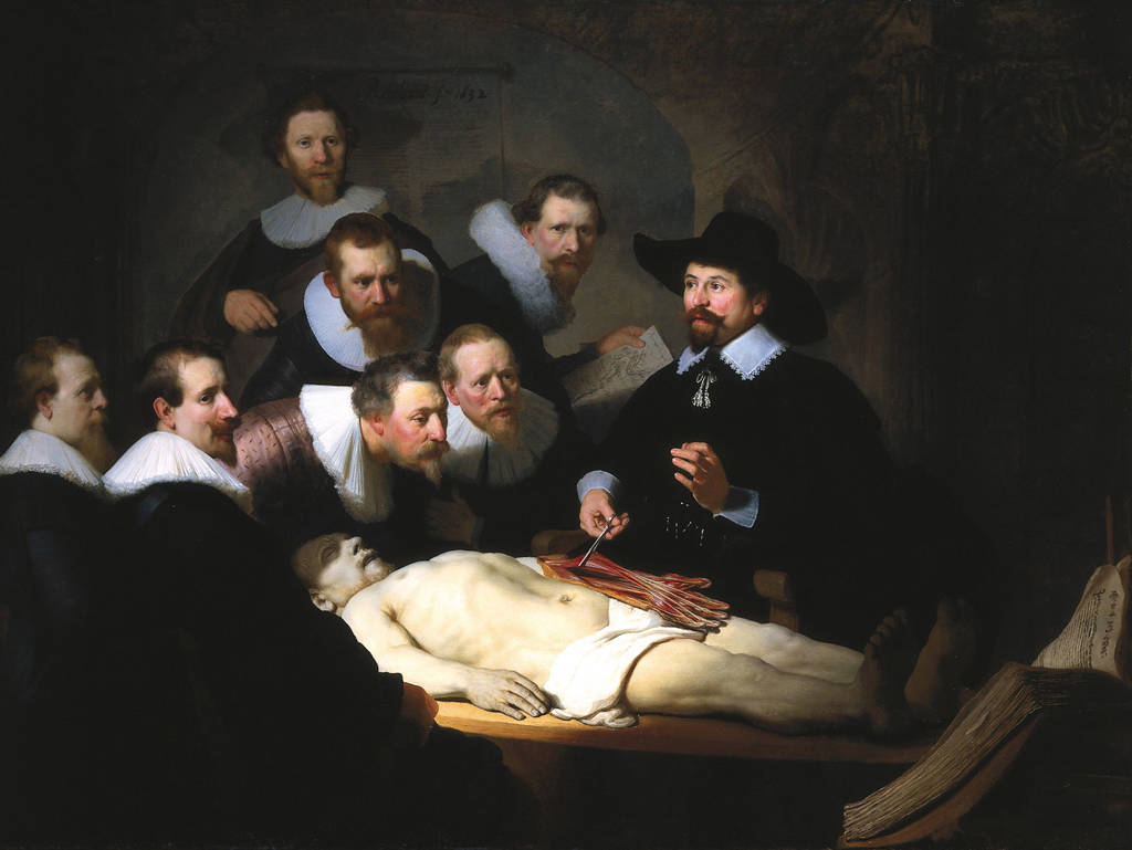 Anatomy Lesson of Dr Tulp by Rembrandt
