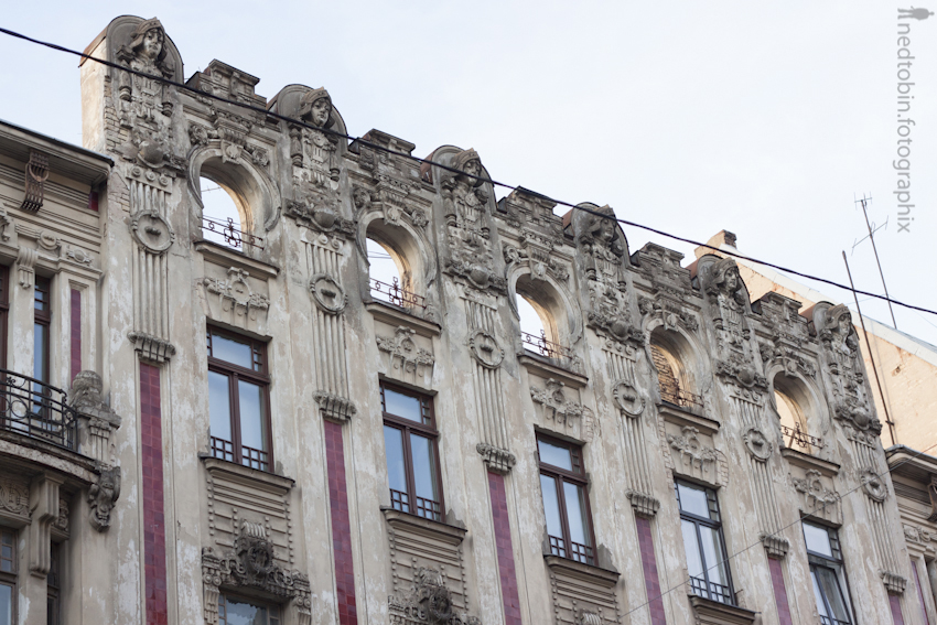 Art Nouveau in Riga, Latvia | source: Ned Tobin