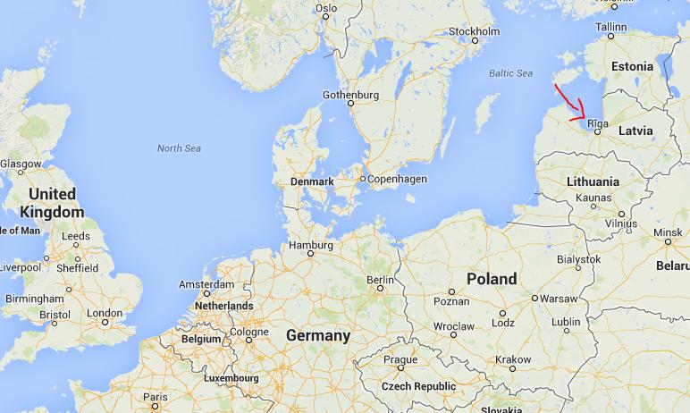 Riga Latvia map