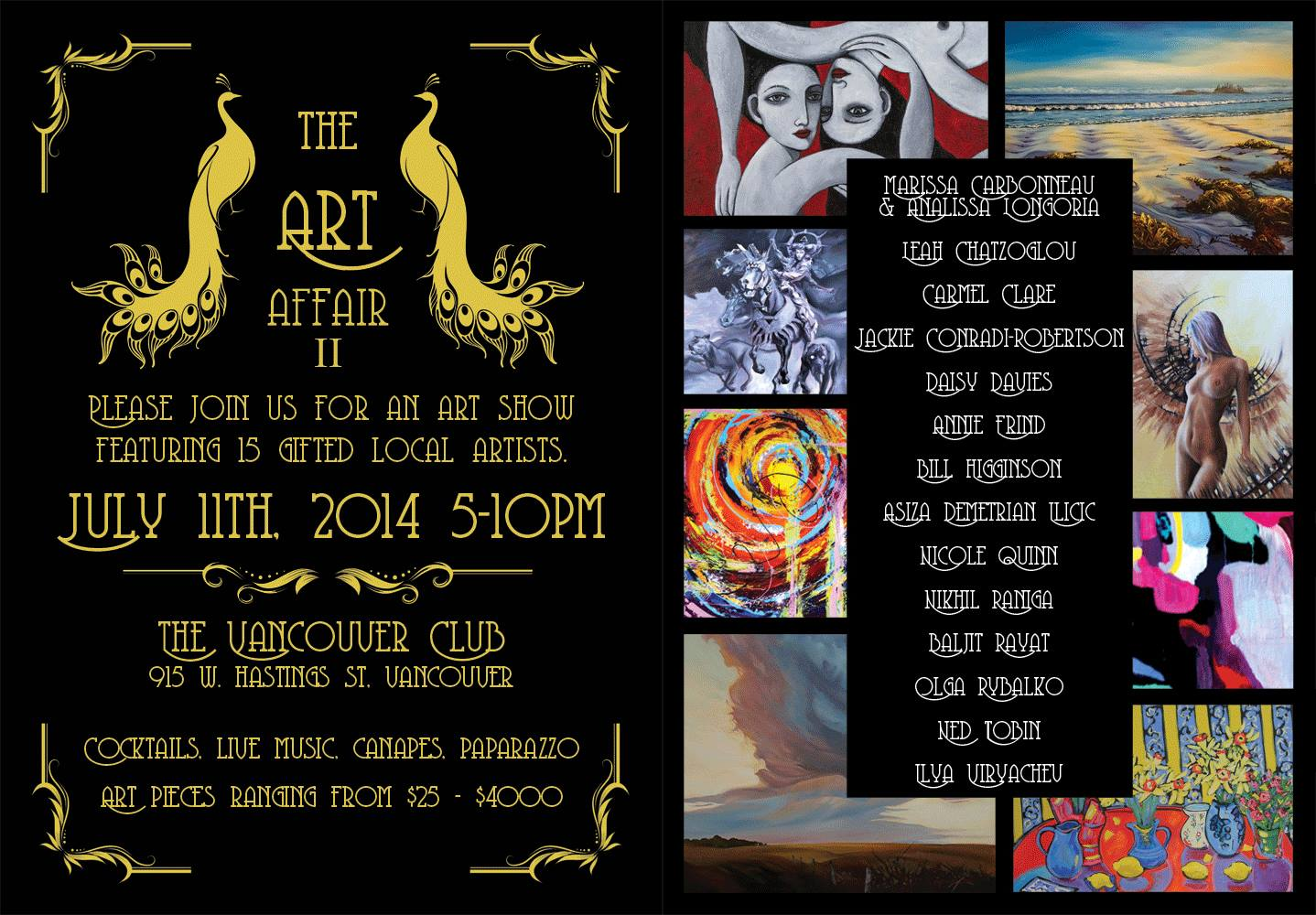 The Art Affair II - The Vancouver Club - July 11 2014