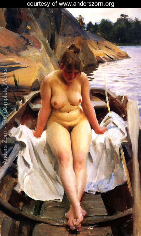 I Werners Eka (In Werner's Rowing Boat)  by Anders Zorn
