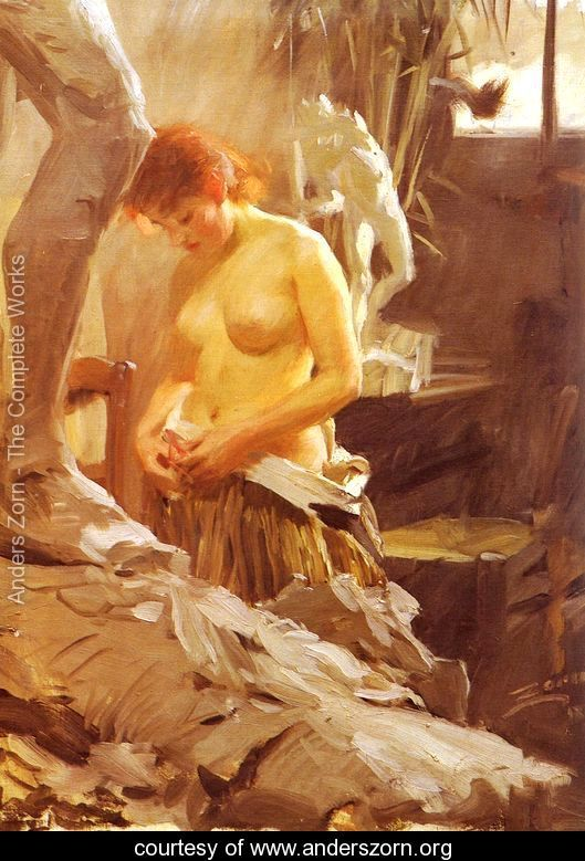 I Wikstroms Atelje by Anders Zorn