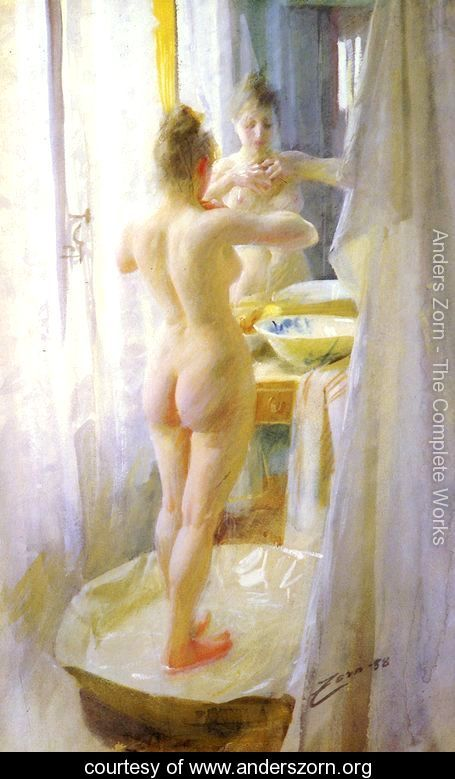 Le Tub (The tub) by Anders Zorn